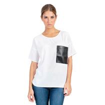 Camisa Blanca Y Negra Guayabita Micaela Para Damas