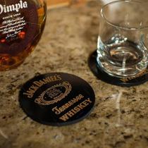 Porta-copo Jack Daniels Preto Em Mdf - 10 Cm