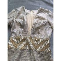 Vestido De Tecido E Telinha No Decote Agilitá Tam:38/40