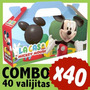 Mickey Cajita Caramelera Valijita Bolsita Souvenir Combo X40