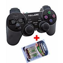 Controle Ps3 Lacrado S/ Fio Ps3, Ps2, Pc Dualshock + Pilhas