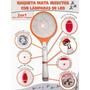 Raqueta Recargable Con Linterna Para Mosquitos Moscas Etc