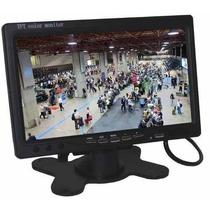 Tela Monitor Em Lcd Tft 7 Pol Carro Camera De Ré Dvd Cftv E+