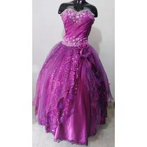 Vestido De Quince Años Color Morado Talla ¨m¨