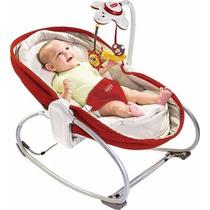 Cadeira Balanço Rocker Napper 3em1 Vermelho Tiny Love Com Nf