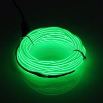 Fita Fio Linha Led Neon Luz Moldável 5 Metros Verde Fluoresc