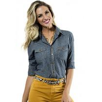 Camisa Jeans Esporte Chique Principessa Nina