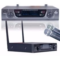 Sjf Microfone Uhf Sem Fio Duplo Amb2h Beta58 Até 90 Metros
