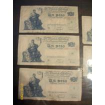 Lote De 5 Billetes De 1 Peso Ley 12962 Año 1947