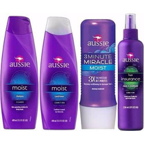 Kit Aussie Shampoo+condicionador+3 Minute Miracle+leave-in