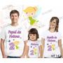 Lebrança De Aniversário Tinker Bell Camiseta 3 Uni