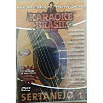 Karaoke Sertanejo Vol.01 Coletânea Karaokê Dvd