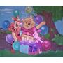 Painel De Festa Tnt Urso Pooh 2,00 X 1,40 M C/ Viés Barbante