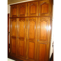 Guarda-roupa 4 Portas - Madeira Maciça - Cerejeira