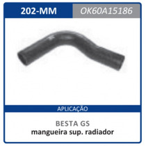 Mangueira Superior Radiador Gs 0k60a.15186 Besta:1986a2006