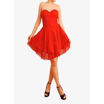 Vestido Campanita Corte Princesa De Quince, Brishka M-0061