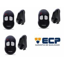 Kit 3 Controles Remotos Ecp Fix 292mhz P/ Alarmes E Portão