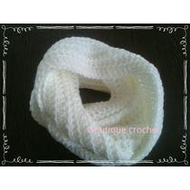 Bufanda Infinita Tejida Al Crochet