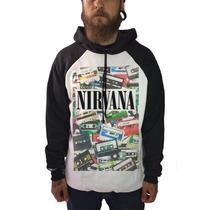 Casaco Blusa De Frio Moletom Rock Grunge Kurt Cobain Nirvana
