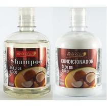 Kit 5 Shampoo+condicionador Oleo De Coco Hidratação Capilar