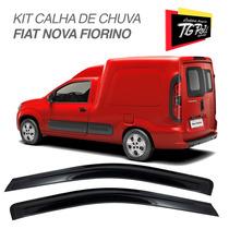 Kit Defletor Calha De Chuva Fiat Nova Fiorino 2014 2015 2016