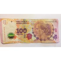 Billete Evita De $100 Primer Modelo Serie A