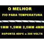 Fio Amianto Para Temperatura 2,5mm Até 400 Graus 3 Metros