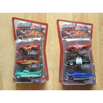 Set 2 Disney Pixar Cars Gift Pack Triple Mcqueen Doc Flo .