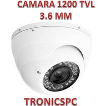 Camara Seguridad Domo Cmos 1200 Tvl 24 Led 3.6 Mm