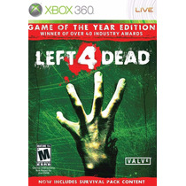Left 4 Dead Game Of The Year Extras Mídia Física Xbox 360
