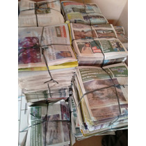 Jornal Velho 10 Kilos Folhas Grandes E Limpas Sem Encartes