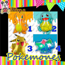 Globos Pokemon Go Pokemones 70-78cm Metalicos Pikachu 4 Mod
