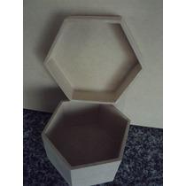 Caja Exagonal Fibrofacil 10x10x6-alhajero-bijou-souvenir