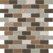 Malla Decorativa Para Muro Mod. Vara Travertino (30x30)