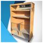 Mueble Facturero Para Panaderias 2 Estantes + 2 Vidriados