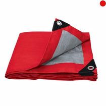 Lona De Polietileno Color Roja 4x5m Refuerzo Plastico 4122