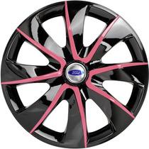 Jogo Calota Aro 13 Prime Pink Ka Fiesta Focus Escort Ford