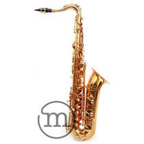 Saxofone Tenor Laqueado Bb Milano Custom Sax Sib Com Case !