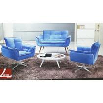 Conj. Cadeira Decorativa - Estofados Cadeiras Poltronas Sofa
