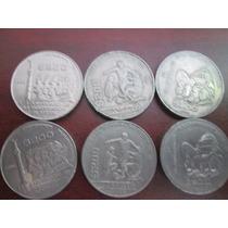 6 Monedas De Nickel 200 Pesos 1985, 1986