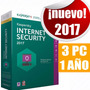 Licencia Kaspersky Internet Security 2017 3 Pc 1año Original