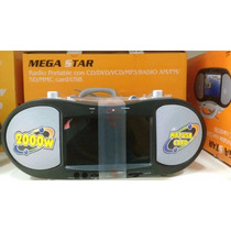 Radio Dvd Megastar Com Dvd Tela 7 Cd /mp3 / Card / Usb