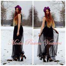 Vestido Mini Tul Egresada Recepciones Importado Moda Pasión