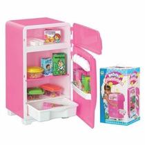 Geladeiria Infantil - Brincando De Casinha -geladeira Rosa