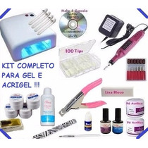 Kit Unhas Gel Uv Acrygel Dvd + Cabine + Lixa + Gel Acrygel