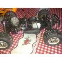 Auto Radio Control A Explosion 4x4 1/8 Con Repuestos