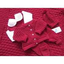 Saída De Maternidade Manta-casaco-salopete De Menino