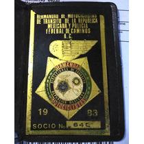 Antigua Placa Hermandad Policia Motociclistas Coleccion 80´s