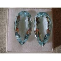 Natural Pedras Água Marinha Azul Perfeito Fazer Joia 46 Cts