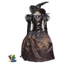 Disfraz Bruja Brujita Halloween Con Sombrero Talla 8